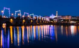 Mirandela, старый мост Стоковые Фото