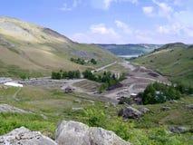Mirando abajo en el valle de Coppermines, distrito del lago Foto de archivo libre de regalías
