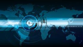 Mirando alle nuove tecnologie del mondo   illustrazione di stock