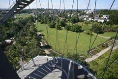 Mirando de la torre del parque, Stuttgart Imagen de archivo