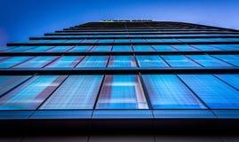 Mirando para arriba el edificio de banco de WSFS en Wilmington céntrico, Del Imágenes de archivo libres de regalías