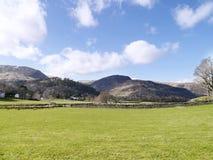 Mirando sobre campo a Glenridding Dodd, distrito del lago Imagen de archivo libre de regalías