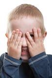 Mirar a escondidas el ojo Fotos de archivo
