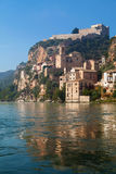 Miravet Castle and the Ebro river Stock Photo