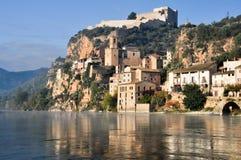 Miravet and Ebro river, Tarragona. (Spain) Stock Images