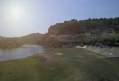 Miravet i Ebro fotografia stock