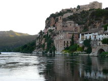 Miravet, Tarragona (Ισπανία) Στοκ φωτογραφία με δικαίωμα ελεύθερης χρήσης