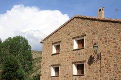 Miravete DE La Sierra Aragon Spanje Royalty-vrije Stock Afbeeldingen