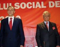 Mircea Geoana u. Ion Iliescu Lizenzfreies Stockfoto