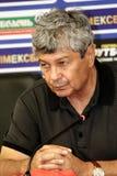 Mircea Lucescu, autocar de FC   Photographie stock libre de droits