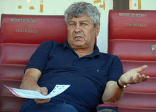 Mircea Lucescu in Dinamo Bucharest-Shaktar Donetk Stock Photography