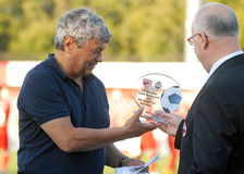 Mircea Lucescu in Dinamo Bucharest-Shaktar Donetk Royalty Free Stock Images