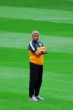 Mircea Lucescu - premier entraîneur de FC Shakhtar Images stock