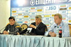 Mircea Lucescu at the press conference Royalty Free Stock Photo