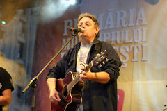 Mircea Vintila. A great romanian folk singer Mircea Vintila at Tuborg Festival Royalty Free Stock Photography