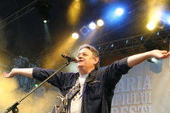 Mircea Vintila. A great romanian folk singer Mircea Vintila at Tuborg Festival Royalty Free Stock Photo
