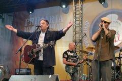 Mircea Vintila y Marcian Petrescu Fotos de archivo