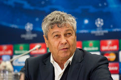 Mirceau Lucescu Listopad 5, 2014 Lviv, Ukraina Obraz Stock