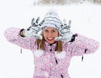 ¡Mire, él es nieve! Foto de archivo libre de regalías