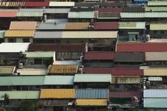 Mire abajo de vista de una ciudad Imagenes de archivo