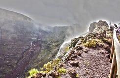 Mire en el cráter Foto de archivo libre de regalías