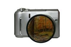 Mire en mi cámara Imagenes de archivo