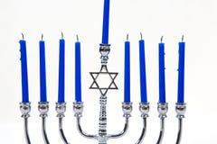 mire le menorah Photo libre de droits