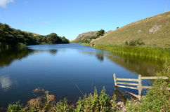 Mire Loch at St Abbs Head in Scotland Stock Photo