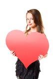 Mire mi corazón grande? Fotos de archivo libres de regalías