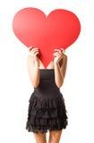 Mire mi corazón grande? Imagen de archivo libre de regalías