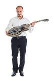 Mire mi guitarra Fotos de archivo