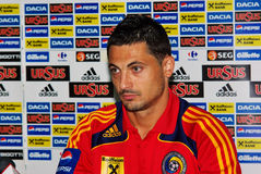 Mirel Radoi - giocatore di football americano rumeno Fotografia Stock Libera da Diritti