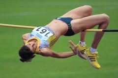 Mirela Dimeriva - high jump Royalty Free Stock Image