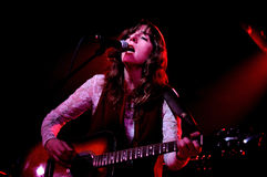 Miren Iza, singer and guitar player of Tulsa band, performs at Apolo stage Stock Images