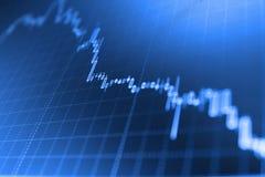 Mirez le diagramme de graphique de bâton du commerce d'investissement de marché boursier image libre de droits