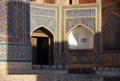 Miri-árabe do detalhe em Bukhara foto de stock
