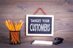 Miri ai vostri clienti, concetto di affari fotografia stock