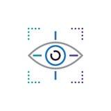 Miri al vettore dell'icona di simbolo, occhio che segue la linea l'icona, l'illustrazione di logo di vettore del profilo, pittogr Immagini Stock Libere da Diritti
