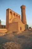 Miri Arab Madrassah a Buchara al tramonto Immagine Stock Libera da Diritti