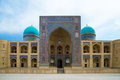 Miri Arab Madrassah in Bukhara Stock Image
