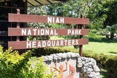 MIRI, SARAWAK, o 1º de setembro de 2018: O QG do parque nacional de Niah é foto de stock royalty free