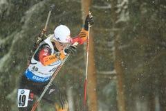 Miriam Goessner - biathlon. Miriam Goessner from Germany in women 10 km pursuit race within biathlon world cup 2014/2015 held on Nove Mesto na Morave on 8.2.2015 Stock Photos