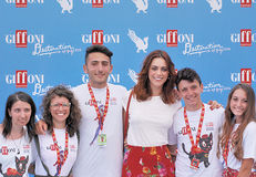 Miriam Leone  at Giffoni Film Festival 2016 Royalty Free Stock Images
