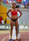 Mirian Tavares (ACDRA) femmes de 400 mètres Photos libres de droits