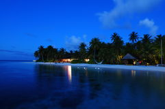 Mirihi Island Resort In The Indian Ocean On The Ma Stock Image
