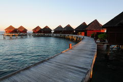 Mirihi Island Resort In The Indian Ocean On The Ma Royalty Free Stock Image