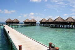 Mirihi Island Resort in the Indian Ocean Stock Photo