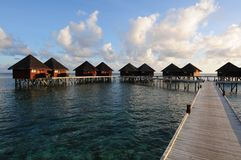 Mirihi Island Resort in the Indian Ocean Royalty Free Stock Photos
