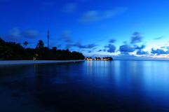 Mirihi Island Resort in the Indian Ocean on the Ma Royalty Free Stock Photos