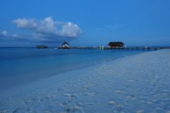 Mirihi Island Resort in the Indian Ocean on the Ma Stock Images